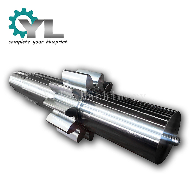 Module 50 Output Driving Alloy Steel Spur Gear Shaft