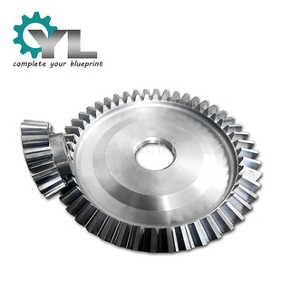 OEM Factory CNC Gear Hobbing Cement Mixer 30CrNiMo8 Crown Ring 45 Degree Steering Gear Bevel Gear
