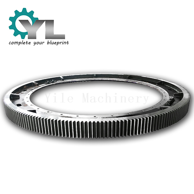 Dryer Forged Half Ring Girth Gear With Welding Flange