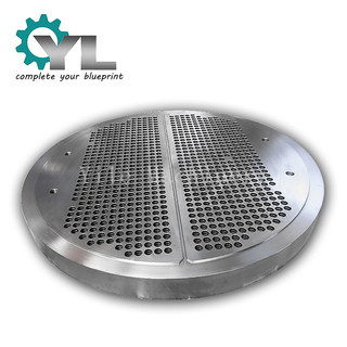 Custom Large Diameter Steam Turbine Tube Type Heat Exchanger Tube Plate