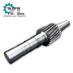Cement Lime Rotary Kiln CNC Machining Helical Spur Tooth Gear Driving Shaft