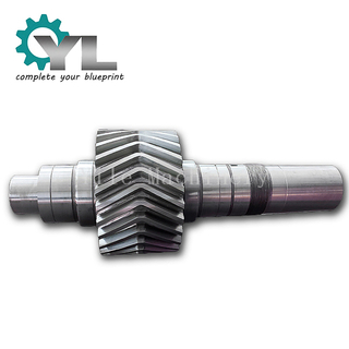 Forged Steel Herringbone Gear Shaft With No Teeth Transition