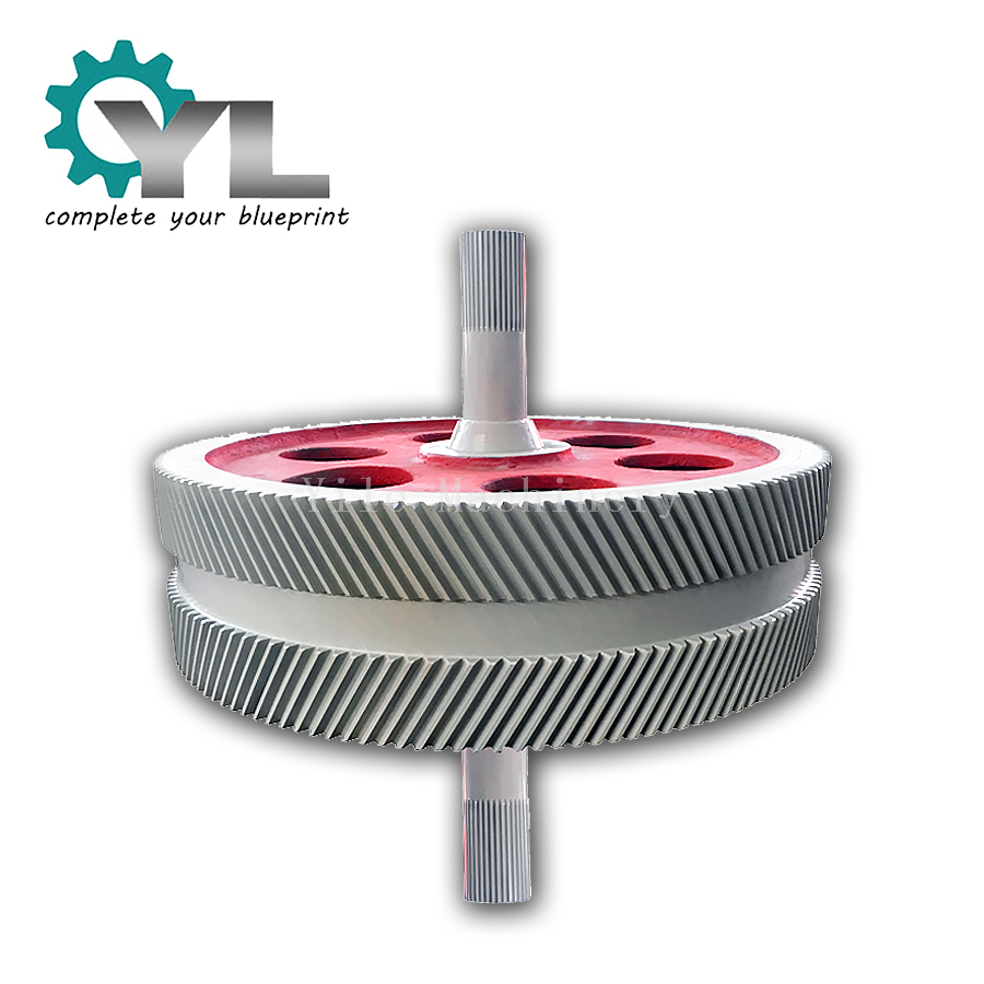 Excavator Cast Forging Steel Transmission Herringbone Gear Wheel